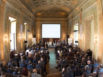 Evento corporate organizzato da Smart Eventi per Hitachi nella prestigiosa location romana Galleria del Cardinale